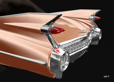 1959 Cadillac Serie 62 US-Klassiker Poster in brown