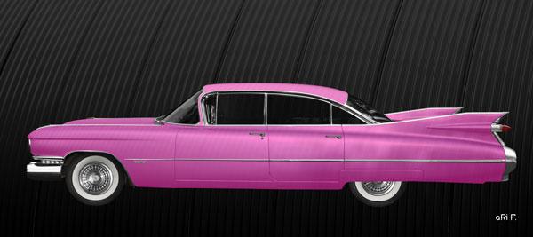 1959 Cadillac Serie 62 US-Klassiker in pink