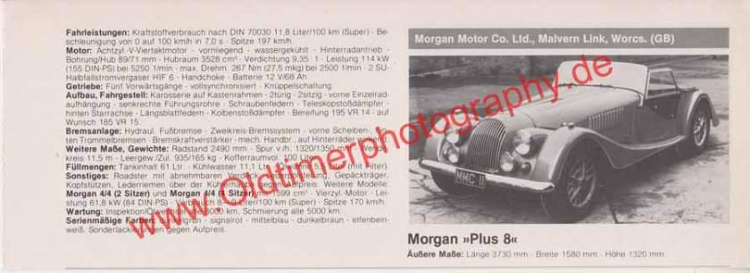 Morgan Plus 8 technische Daten 80er Jahre