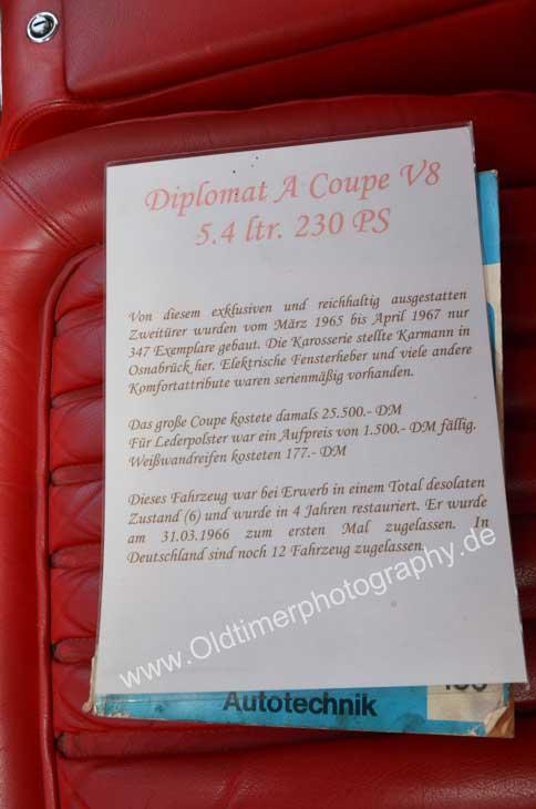 Opel Diplomat A V8 Coupé technische Daten und Fahrzeug-Historie