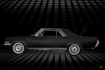 Opel Diplomat V8 Coupé Poster in black side view