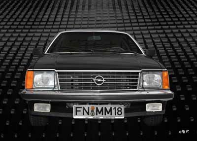 Opel Monza in black black