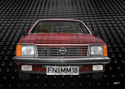 Opel Monza Art Car in red & black