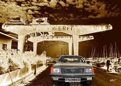 Opel Monza in Vintage Art