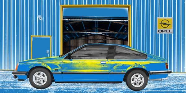 Opel Monza in blue & yellow