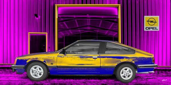 Opel Monza in yellow-blue