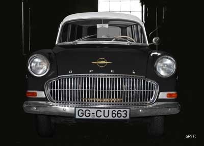 Opel Olympia Rekord Caravan in black & black
