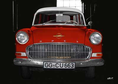 Opel Olympia Rekord Caravan in black & red