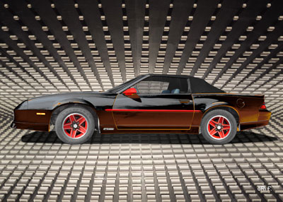 Chevrolet Camaro Poster in black & red