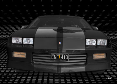 Chevrolet Camaro in black 3. Generation Poster