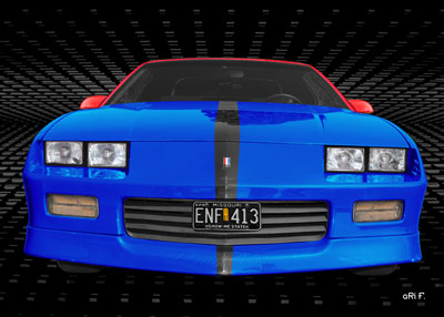 Chevrolet Camaro in blue & black