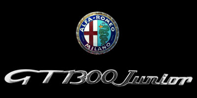Logo Alfa Romeo GT 1300 Junior auf Heckklappe