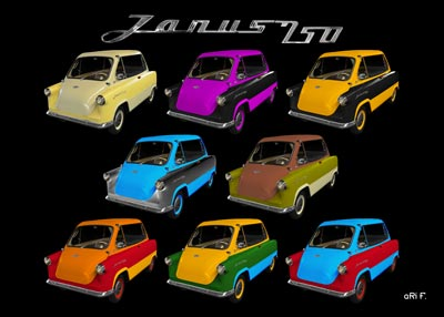 Zündapp Janus 250 Poster in all colors