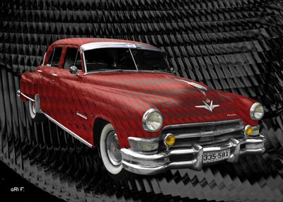 1952 Chrysler Imperial in red-brown