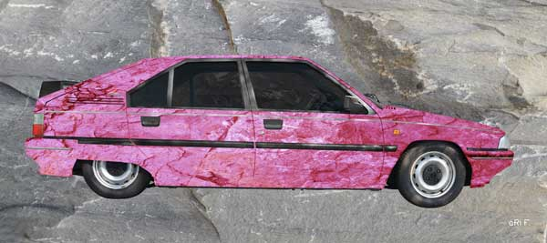 Citroen BX in stone-washed in pink