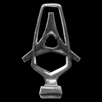 Kühlerfigur / Hood Ornament Dodge Custom auf Motorhaube
