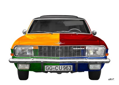 Opel Diplomat A in multi color