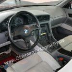 BMW 850i Interieur mit grauem Nappaleder