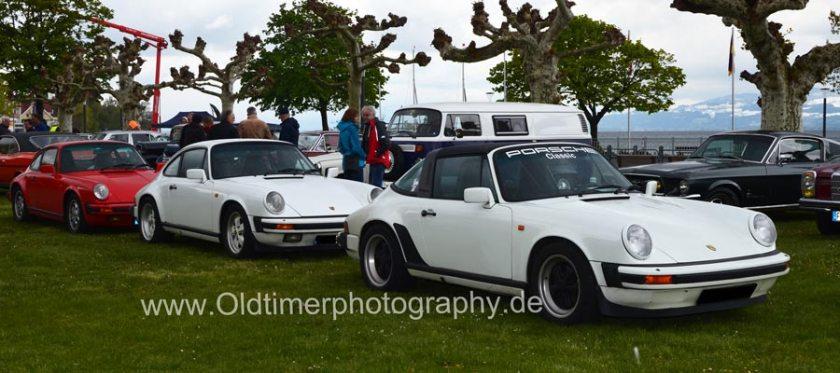 Porsche 911 G-Modelle bei einem Oldtimertreffen am Bodensee
