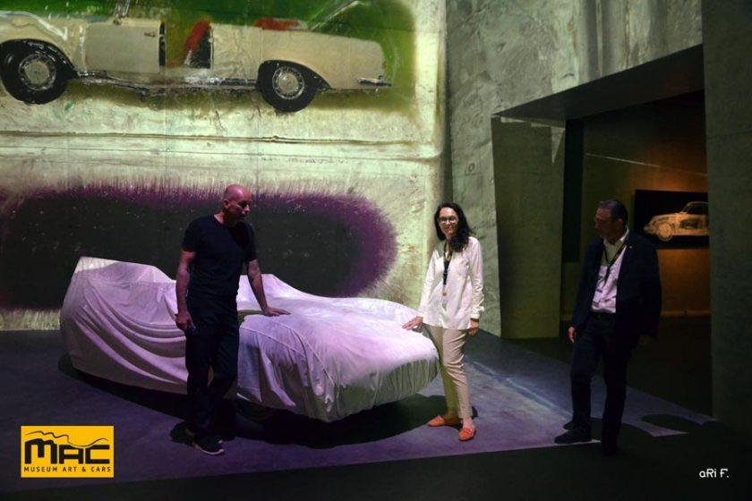 2019 - Eröffnung MAC 2 im Lichtdome Präsentation mit Lichtkünstler Markus Brenner und Ehepaar Maier