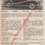 BMW 3,2 Datenblatt - BMW Werbung von 1957
