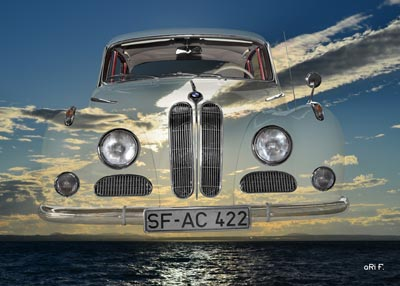 BMW 502 over Lake Constance