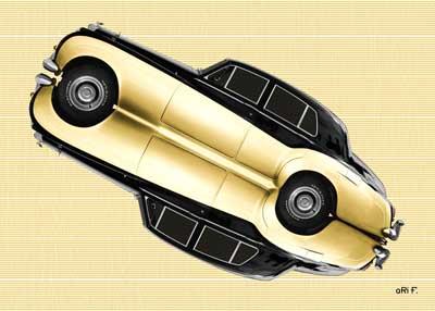Bentley S2 in beige mirror image
