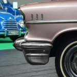 Chevrolet Bel Air 1957 Frontdetail mit 3 Chrome-Applikationen