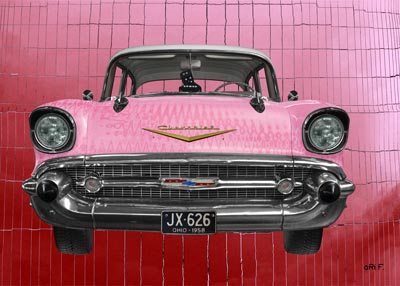 Think Pink with Chevrolet Bel Air 1957