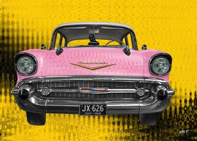 Chevrolet Bel Air 1957 new created in pink by aRi F.