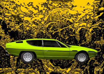 Lamborghini Espada new created in green by aRi F.