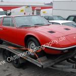 Maserati Indy Frontansicht / front view auf Autotrailer befestigt