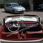 Mercedes-Benz 190 SL Interieur mit rotem Leder ausgestattet