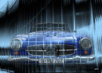 Mercedes-Benz 190 SL W121 Art Car Poster new created by aRi F.