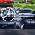 Mercedes-Benz SL Interieur mit schwarzem Leder