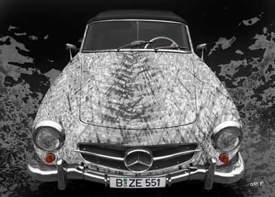 Mercedes-Benz 190 SL Art Car Poster new created by aRi F.