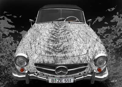 Mercedes-Benz 190 SL Art Car Poster new created by aRi F.