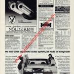 Abarth Auspuffanlagen und Hella Scheinwerfer Annonce Werbung in AMS 5-1987