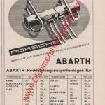 Abarth Werbung für Auspufftopf aus 1955