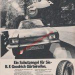 B.F. Goodrich Das gute Goodrich Gefühl! Reifen-Reklame in Auto Motor & Sport Ausgabe 9/1972
