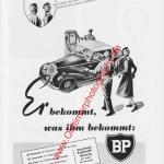 BP Station Reklame Werbung aus 1953