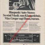 Blaupunkt Essen CR Auto-Radio mit Max Greger Werbung in ams 10/1975 Seite 85