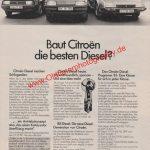 Citroen Visa BX CX Diesel Reklame im Stern 1985