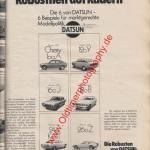 Datsun 6 Modelle Auto Katalog 1976