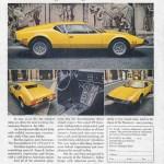 DeTomaso Pantera Advertising/Reklame 1974