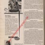 Dunlop Tubeless Reifen Werbung ADAC Motorwelt Mai 1956
