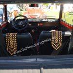 Fiat 127 Durchsicht auf Interieur Sitze noch ohne Kopfstützen
