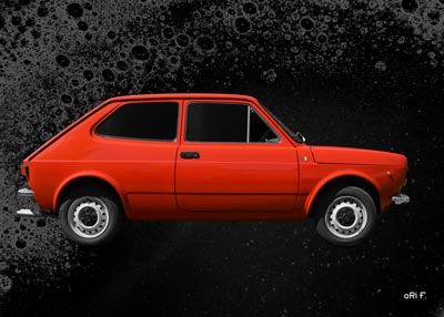 Fiat 127 side view Poster