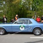 Ford Mustang beim Kontrollpunkt Kabelhängebrücke Langenrargen zur 6. Bodensee-Klassik.