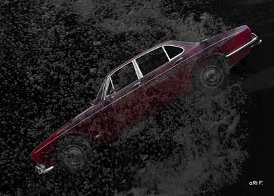 Jaguar XJ Serie 1 in deep water Poster